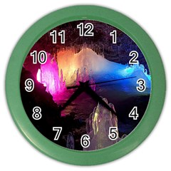 CAVE IN ICELAND Color Wall Clocks by trendistuff