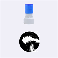 CAVE IN ICELAND Rubber Round Stamps (Small) by trendistuff