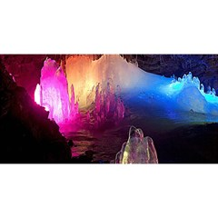 Cave In Iceland You Are Invited 3d Greeting Card (8x4)  by trendistuff