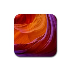 Antelope Canyon 2m Rubber Square Coaster (4 Pack)  by trendistuff