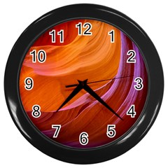 Antelope Canyon 2m Wall Clocks (black)