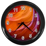 ANTELOPE CANYON 2M Wall Clocks (Black) Front