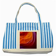 Antelope Canyon 2m Striped Blue Tote Bag  by trendistuff