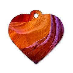 Antelope Canyon 2m Dog Tag Heart (two Sides) by trendistuff