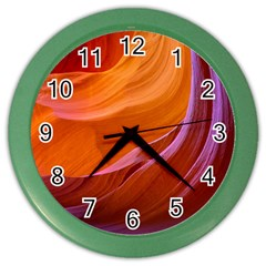 Antelope Canyon 2m Color Wall Clocks by trendistuff