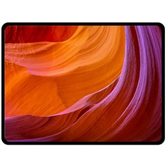 Antelope Canyon 2m Fleece Blanket (large)  by trendistuff
