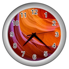 Antelope Canyon 2 Wall Clocks (silver)  by trendistuff