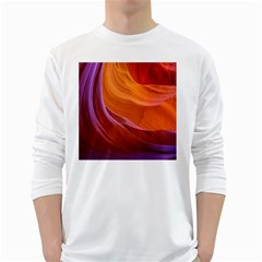 Antelope Canyon 2 White Long Sleeve T Shirts by trendistuff