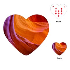 Antelope Canyon 2 Playing Cards (heart)  by trendistuff