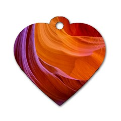 Antelope Canyon 2 Dog Tag Heart (two Sides) by trendistuff