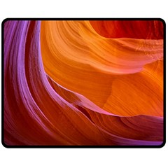 Antelope Canyon 2 Double Sided Fleece Blanket (medium)  by trendistuff