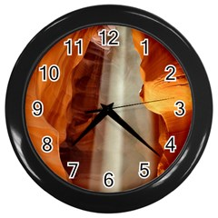 Antelope Canyon 1 Wall Clocks (black) by trendistuff