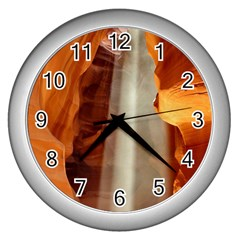 Antelope Canyon 1 Wall Clocks (silver)  by trendistuff