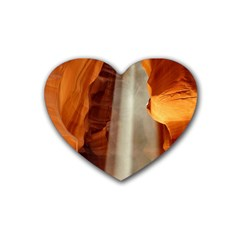 Antelope Canyon 1 Rubber Coaster (heart)  by trendistuff