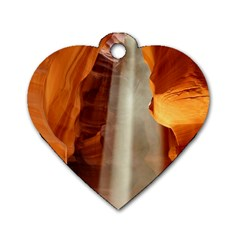Antelope Canyon 1 Dog Tag Heart (one Side) by trendistuff