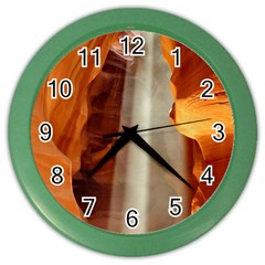 Antelope Canyon 1 Color Wall Clocks by trendistuff