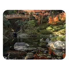 Wakayama Garden Double Sided Flano Blanket (large)  by trendistuff