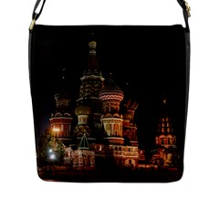 St Basil s Cathedral Flap Messenger Bag (l)  by trendistuff