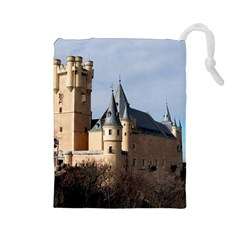 Segovia Castle Drawstring Pouches (large)