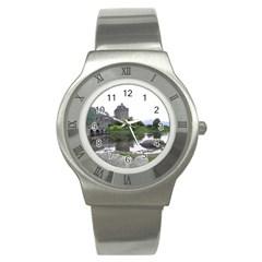 Scotland Eilean Donan Stainless Steel Watches by trendistuff
