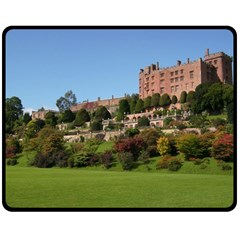 Powis Castle Terraces Double Sided Fleece Blanket (medium)  by trendistuff