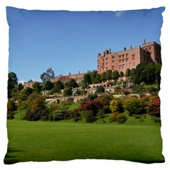 Powis Castle Terraces Large Flano Cushion Cases (one Side)  by trendistuff