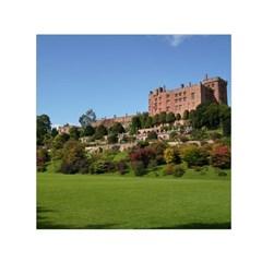 Powis Castle Terraces Small Satin Scarf (square)  by trendistuff