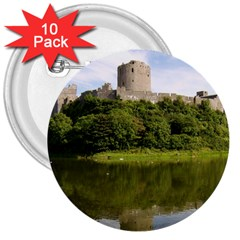 PEMBROKE CASTLE 3  Buttons (10 pack)  by trendistuff