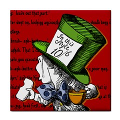The Mad Hatter Tile Coasters