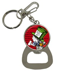 The Mad Hatter Bottle Opener Key Chains by waywardmuse