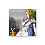 Alice In Wonderland Square Magnet