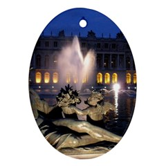 Palace Of Versailles 2 Ornament (oval)  by trendistuff