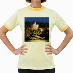 Palace Of Versailles 2 Women s Fitted Ringer T Shirts by trendistuff