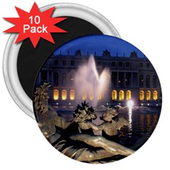 Palace Of Versailles 2 3  Magnets (10 Pack)  by trendistuff