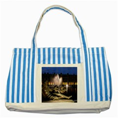 Palace Of Versailles 2 Striped Blue Tote Bag  by trendistuff