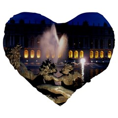 Palace Of Versailles 2 Large 19  Premium Heart Shape Cushions by trendistuff