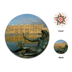 Palace Of Versailles 1 Playing Cards (round)  by trendistuff