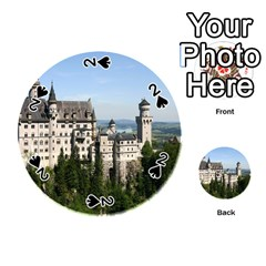 Neuschwanstein Castle 2 Playing Cards 54 (round)  by trendistuff