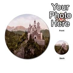 Neuschwanstein Castle Multi Purpose Cards (round)
