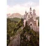 NEUSCHWANSTEIN CASTLE THANK YOU 3D Greeting Card (7x5)  Inside