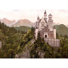 Neuschwanstein Castle Birthday Cake 3d Greeting Card (7x5)  by trendistuff