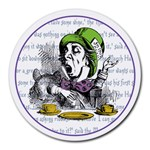 The Mad Hatter Round Mousepads Front