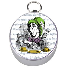 The Mad Hatter Silver Compasses by waywardmuse