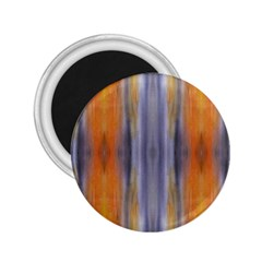 Gray Orange Stripes Painting 2.25  Magnets by Costasonlineshop