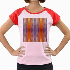 Gray Orange Stripes Painting Women s Cap Sleeve T-Shirt by Costasonlineshop