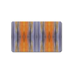 Gray Orange Stripes Painting Magnet (name Card)