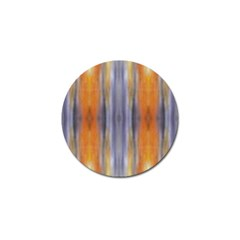 Gray Orange Stripes Painting Golf Ball Marker (10 Pack)