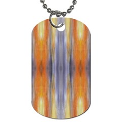 Gray Orange Stripes Painting Dog Tag (two Sides) by Costasonlineshop