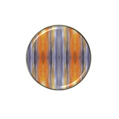 Gray Orange Stripes Painting Hat Clip Ball Marker (4 Pack) by Costasonlineshop