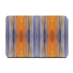 Gray Orange Stripes Painting Small Doormat  by Costasonlineshop